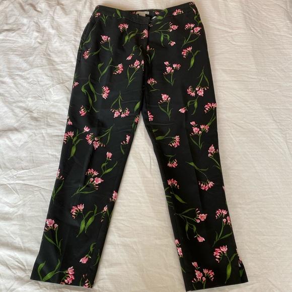 Floral Patterned Ankle Length Slacks